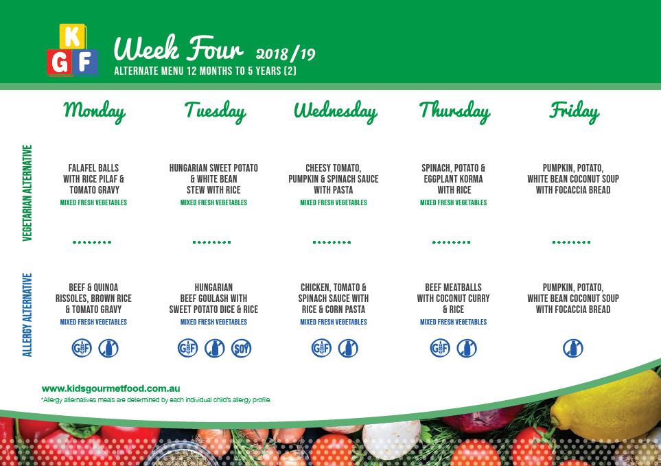allergy menu week 4