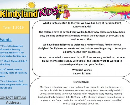 Paradise Point Term 1 Newsletter