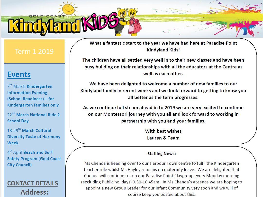 Paradise Point Term 1 Newsletter