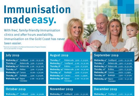 Free community immunisation clinic
